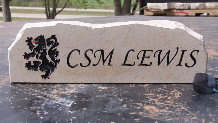 engraved military unit desk stone