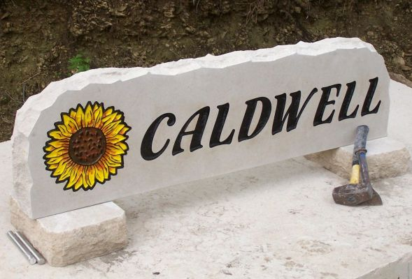 sunflower yard stone