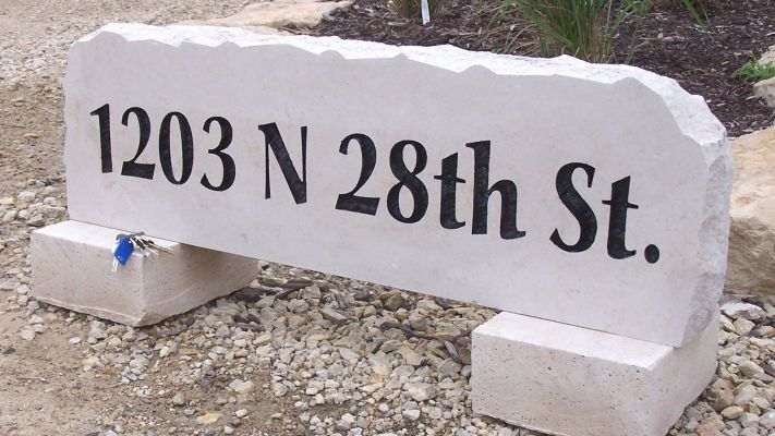 address yard stone