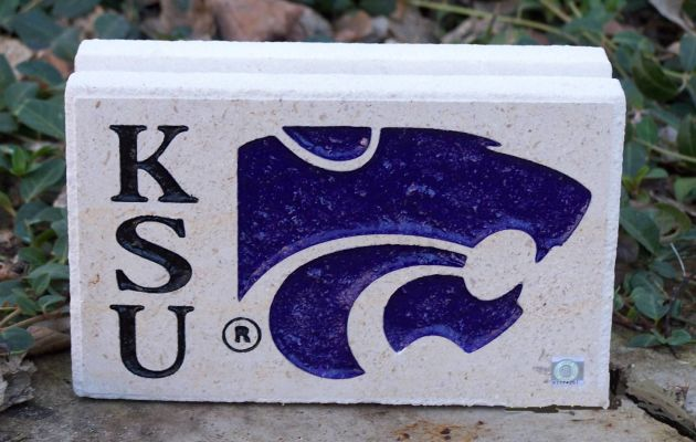 engraved ksu desk stone square