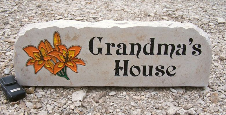 grandma house porch stone