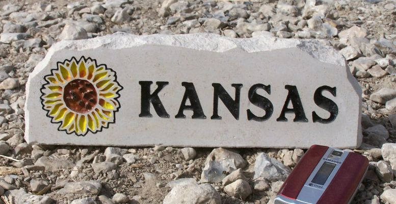 kansas sunflower desk stone