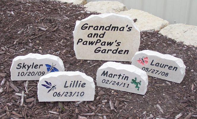 Grandma grandpa stones engraved grandma grandpa stones workwithnaturefo