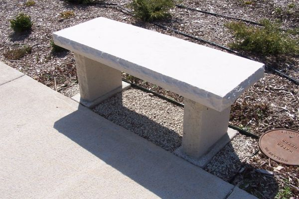 personalized limestone bench