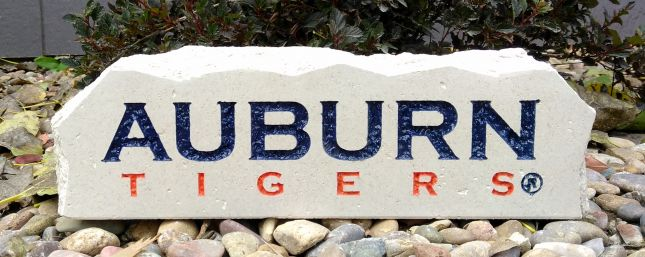 12x4in auburn university tigers long desk stone