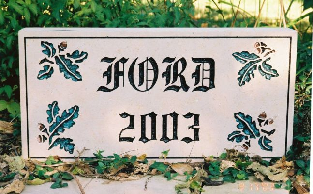 name date stone insert