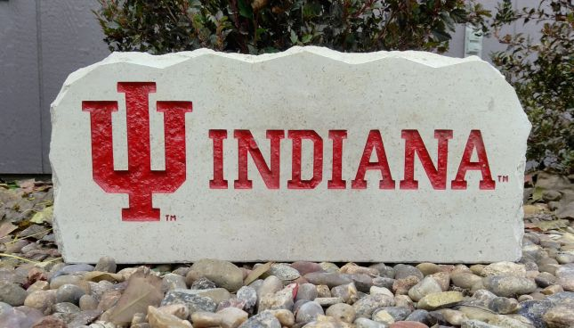 17in indiana university porch sign