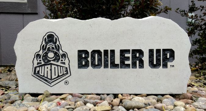 17in purdue university boiler up porch sign