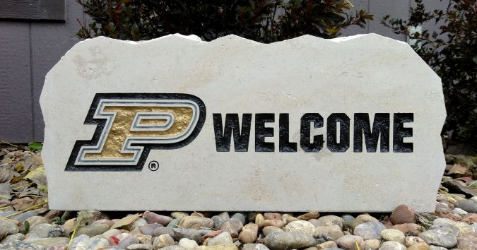17in purdue university welcome porch sign