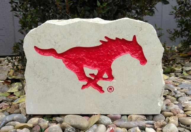 11x8in southern methodist university mustang porch sign