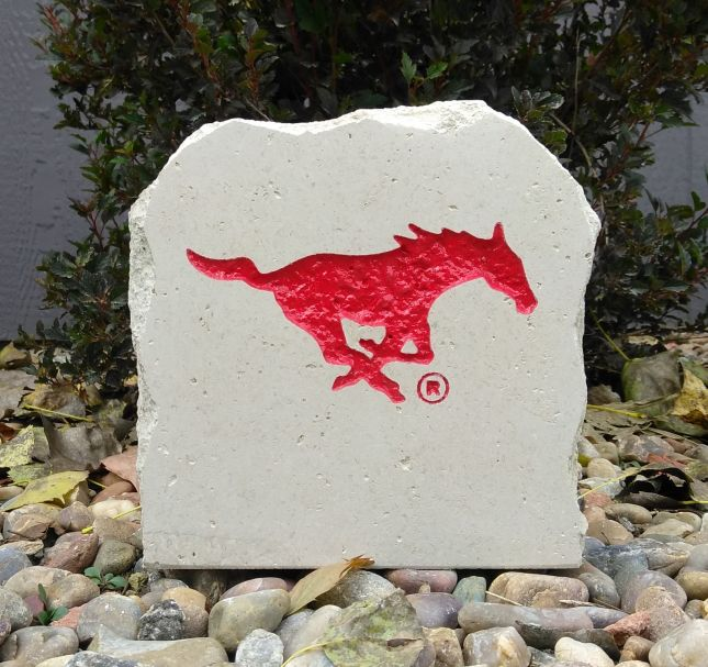 7in southern methodist university mustang desk stone