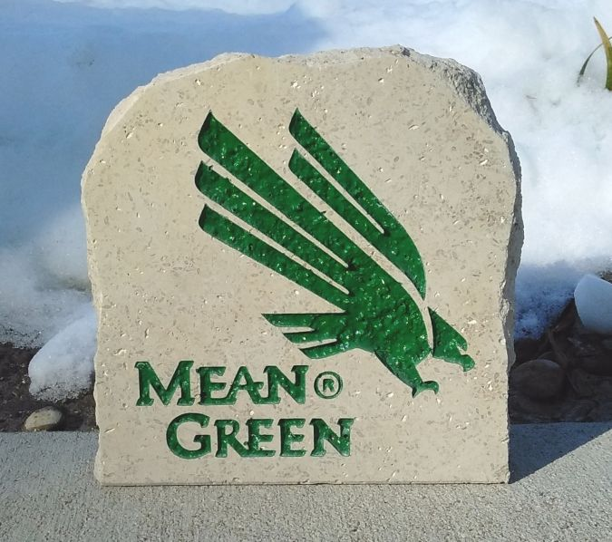 7in university of north texas mean green desk stone