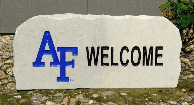 17 inch us air force academy welcome porch stone