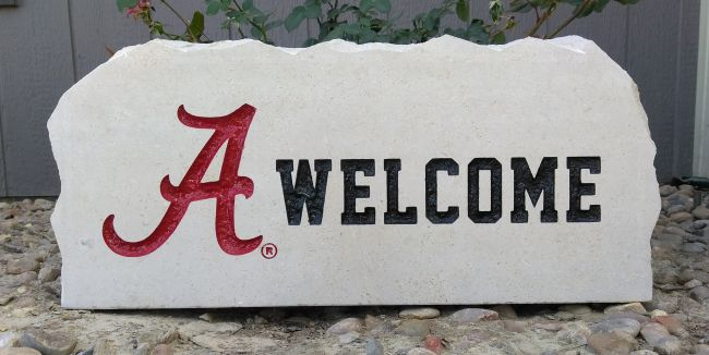 17in university of alabama welcome porch stone 2