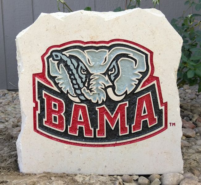 11in university of alabama mascot porch stone