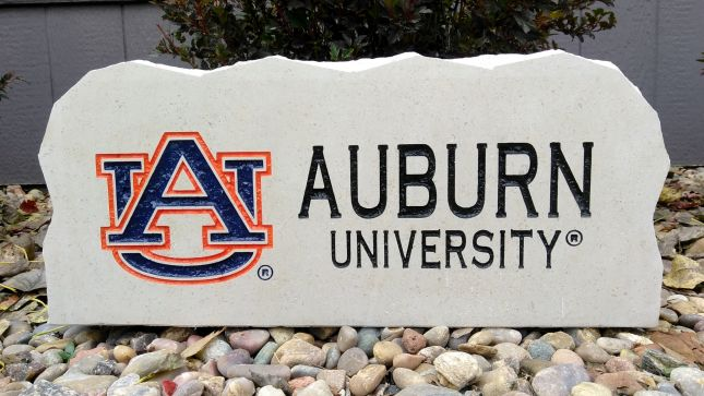 17in auburn university porch stone