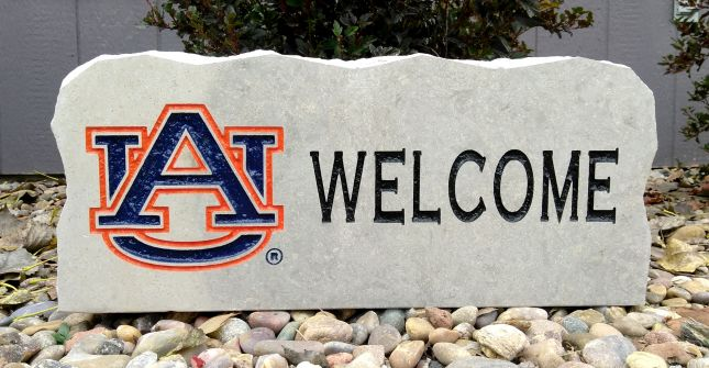 17in auburn university welcome porch sign