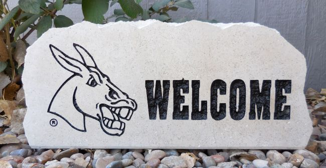 ucm welcome porch stone