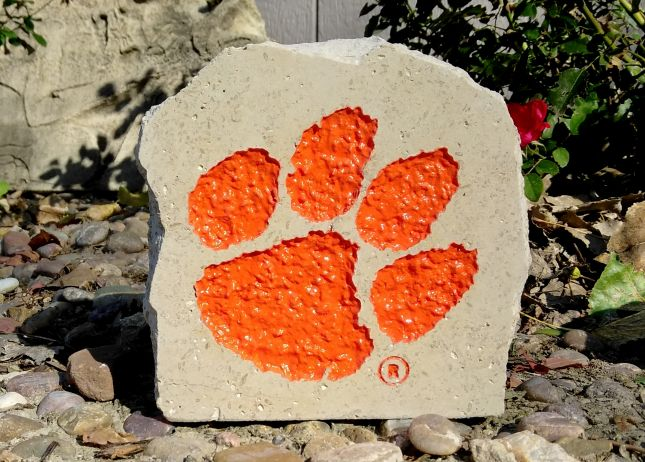 5in clemson tigers desk stone
