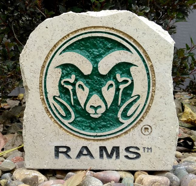 7in colorado state rams desk stone