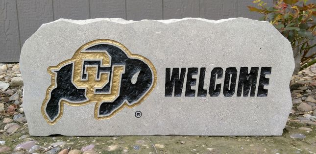 17 in CU Buffalo welcome Porch Sign