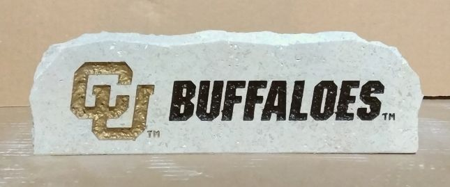 CU buffaloes long desk Stone