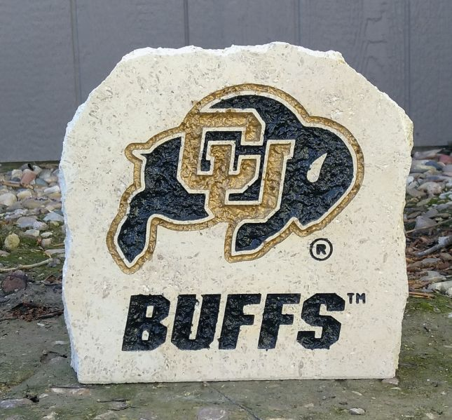 CU buffs desk Stone