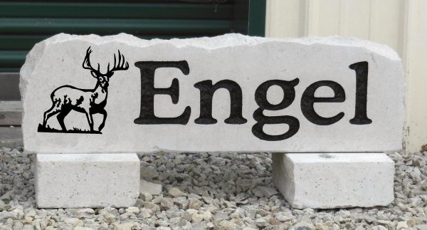 deer graphic with name yard stone
