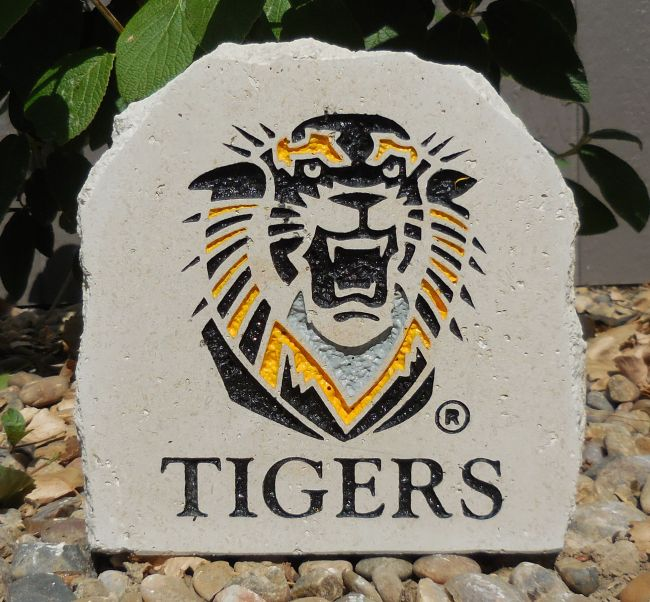 small tigers desk stone