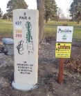 vertical engraved commercial golf tee stone signs