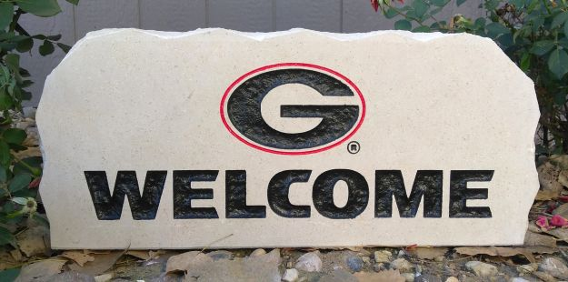 17in university of georgia welcome porch stone