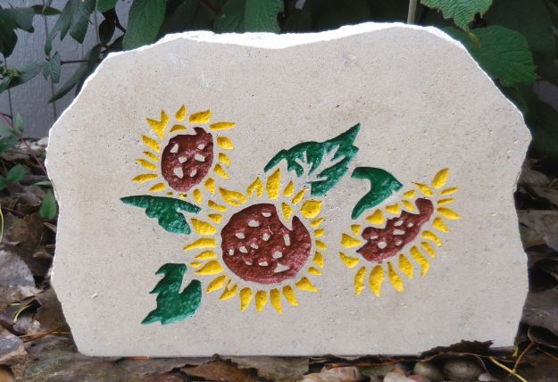 sunflower garden stone