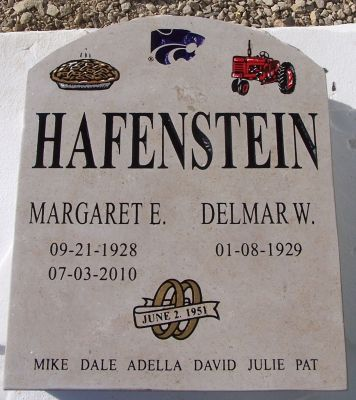 husband and wife memorial stone