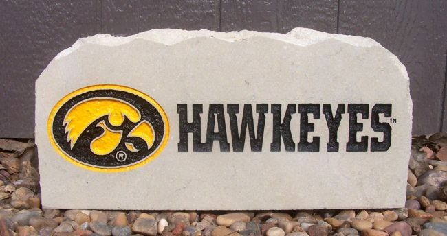 iowa hawkeyes porch stone