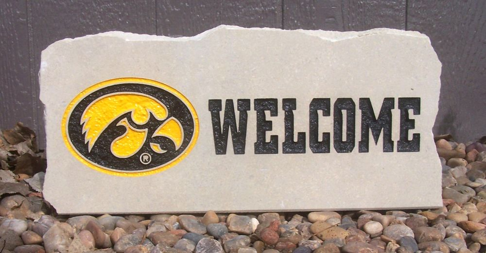 hawkeyes welcome porch stone