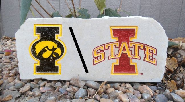 iowa divided house porch stone