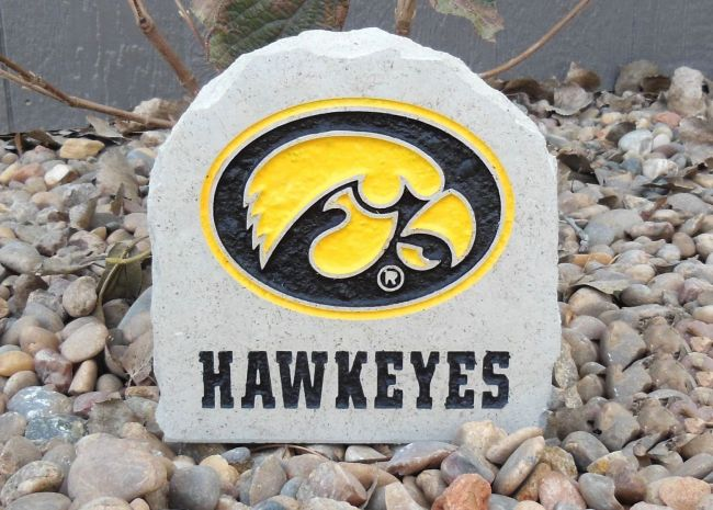 7in iowa hawkeyes stone