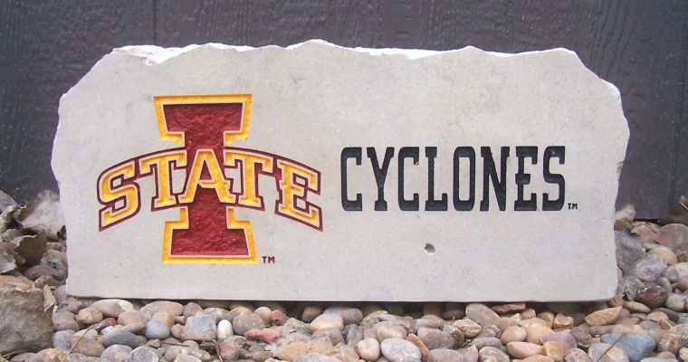 iowa state cyclones porch stone