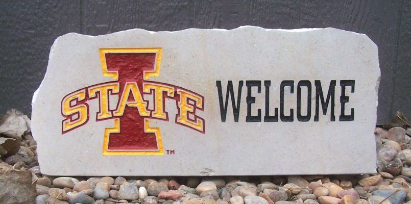 iowa state welcome porch stone