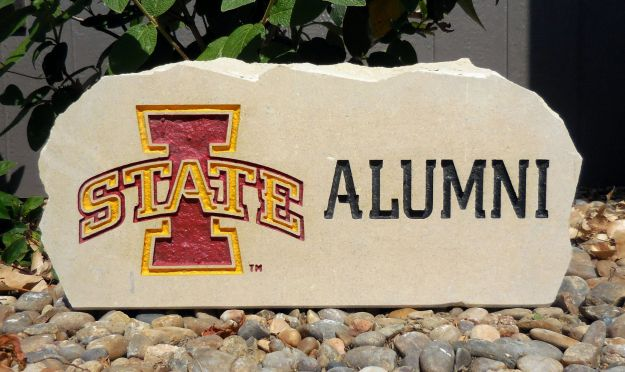 iowa state alumni porch stone