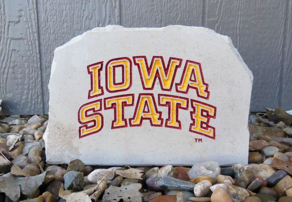iowa state text porch stone