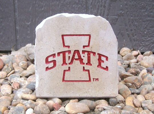 iowa state red desk stone small