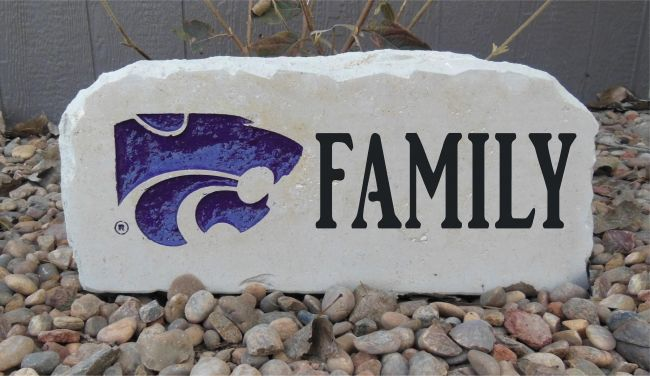 k state family porch stone