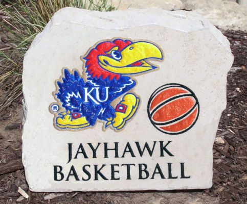 jayhawk basketball porch stone