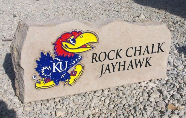 rock chalk jayhawk porch stone