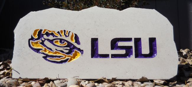 lsu tigers porch stone