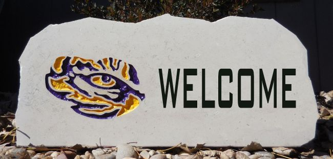 lsu tigers welcome stone