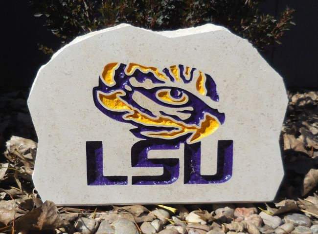 lsu tigers medium porch stone