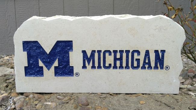 17in University of Michigan porch stone