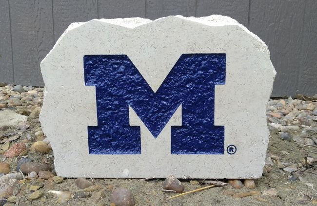11in university of michigan desk stone